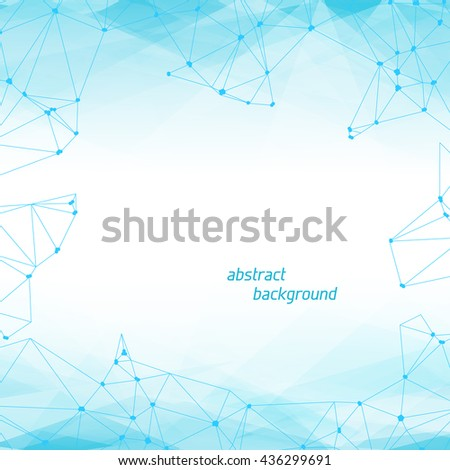 Abstract Polygonal Geometric Background with copyspace. Vector Lowpoly Illustration - stock vector