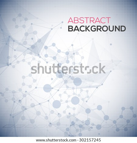 Abstract polygonal low poly background with connecting dots and lines. Connection structure. Vector science background. Polygonal vector background.  - stock vector