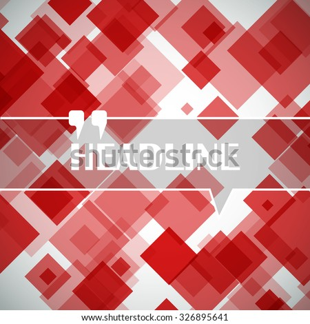 Abstract, polygonal lozenge construction, square block, diamond box surface, red crystal facet, rhombus logo, ruby texture, business backdrop icon, screen saver, EPS 10 vector illustration - stock vector