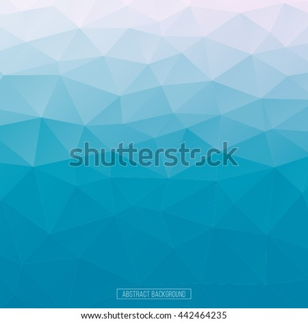 Abstract polygonal mosaic background. Vector illustration. Multicolor low poly gradient background. Crystal polygonal background. Blue and white polygon for flayer, business card, banner, poster.