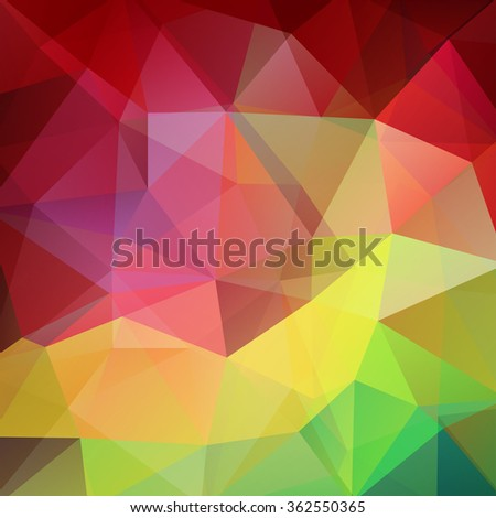 Abstract polygonal vector background. Colorful geometric vector illustration. Creative design template.  - stock vector