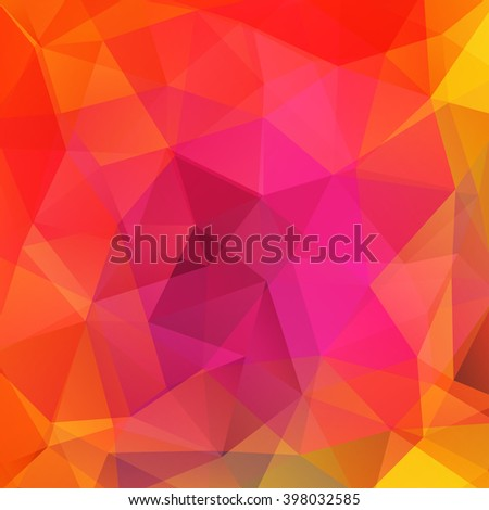 Abstract polygonal vector background. Colorful geometric vector illustration. Creative design template. Yellow, orange, pink colors.  - stock vector