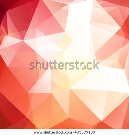 Abstract polygonal vector background. Colorful geometric vector illustration. Creative design template. Red, orange, white colors.  - stock vector