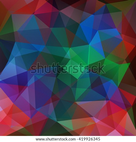 Abstract polygonal vector background. Colorful geometric vector illustration. Creative design template. Green, blue, red, purple colors.  - stock vector