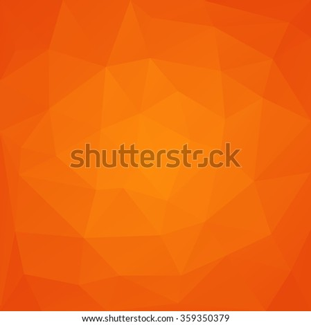 Abstract polygonal vector background in orange color