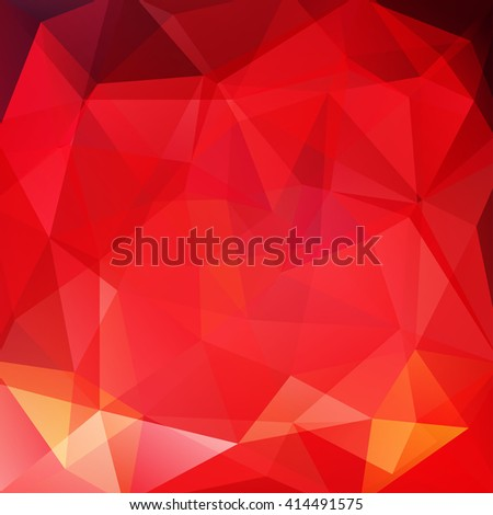 Abstract polygonal vector background. Red geometric vector illustration. Creative design template.  - stock vector