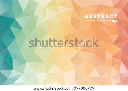 Abstract polygons multicolored background. - stock vector