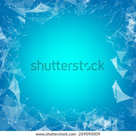 Abstract polygons with lines and triangles design. Vector illustration. - stock vector
