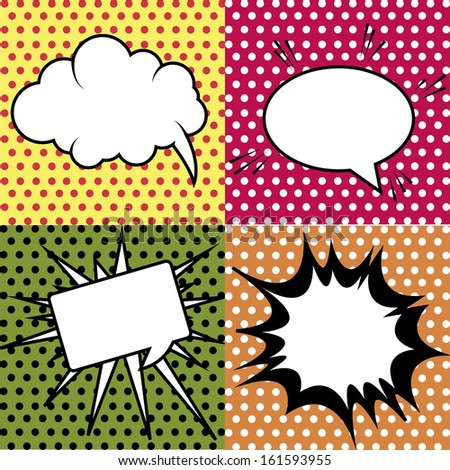 abstract pop art object on special pop art background - stock vector
