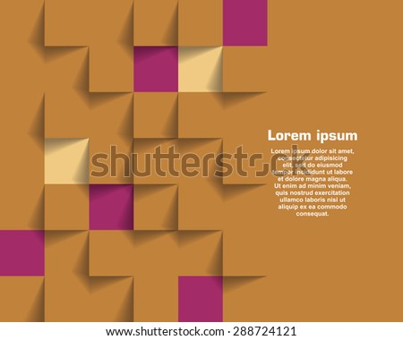 Abstract  Poster Template For Advertising - stock vector