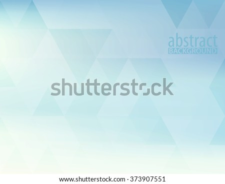 Abstract powder blue horizontal simple pattern textured by transparent triangles. Light pale vector background - stock vector