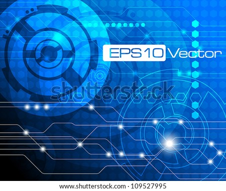 Abstract precision mechanics concept - vector illustration - stock vector