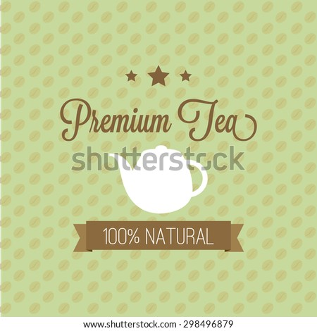 Abstract premium tea background with some special objects - stock vector