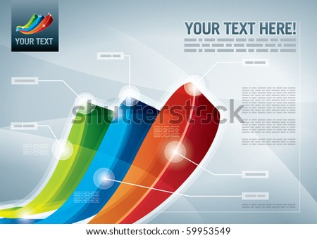 Abstract presentation background. All elements are layered separately in vector file. Easy editable eps 10. - stock vector