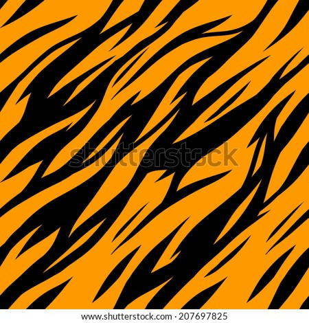 Abstract print animal seamless pattern. Zebra, tiger stripes. Striped repeating background texture. Fabric design. Wallpaper - vector  - stock vector
