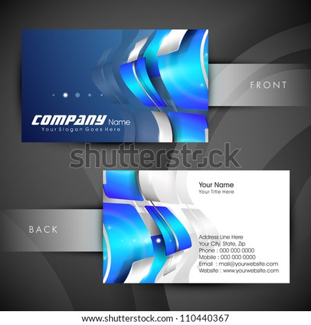 Abstract Professional And Designer Business Card Template Or Visiting Set EPS 10