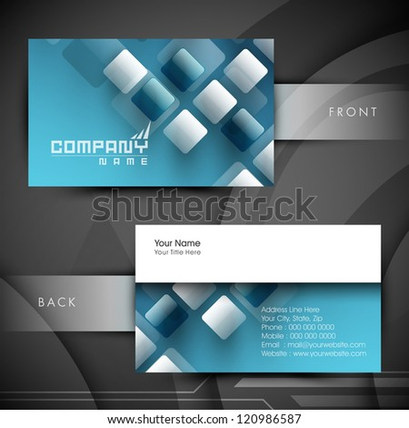 Abstract professional designer business card template stock photo abstract professional and designer business card template or visiting card set eps 10 cheaphphosting Gallery
