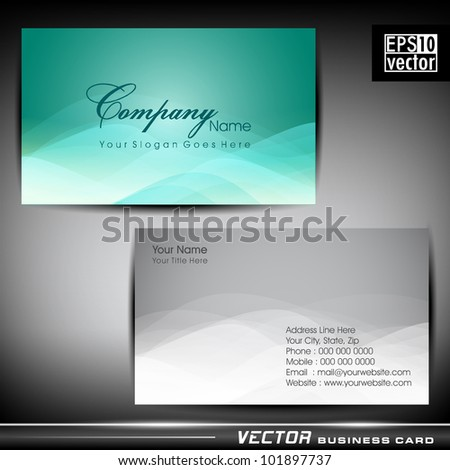 Abstract professional designer business card template stock vector abstract professional and designer business card template or visiting card set eps 10 vector reheart Gallery