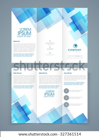 Abstract Professional Trifold Brochure Template Flyer Stock Vector - Tri brochure template
