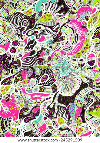 abstract psychedelic background - stock vector