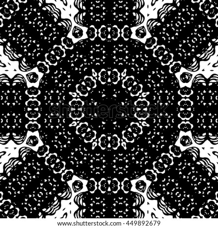 Abstract psychedelic kaleidoscopic seamless pattern. Vector.