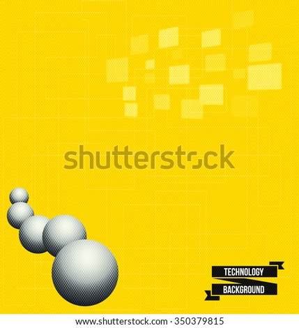 Abstract pure yellow  background - stock vector