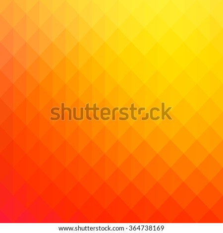 Abstract pure yellow geometric shapes background - stock vector