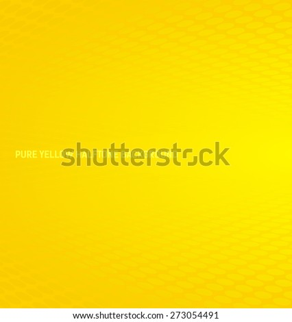 Abstract pure yellow halftone background - stock vector