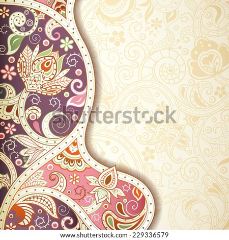 Abstract Purple and Pink Floral Background - stock vector