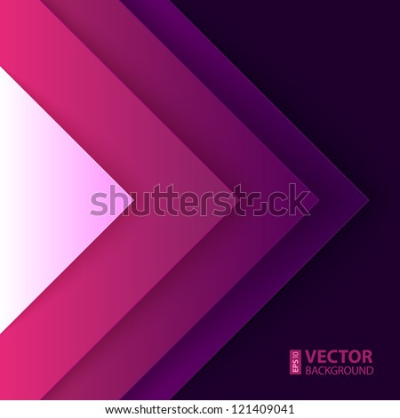 Abstract purple and violet triangle shapes vector background - stock vector