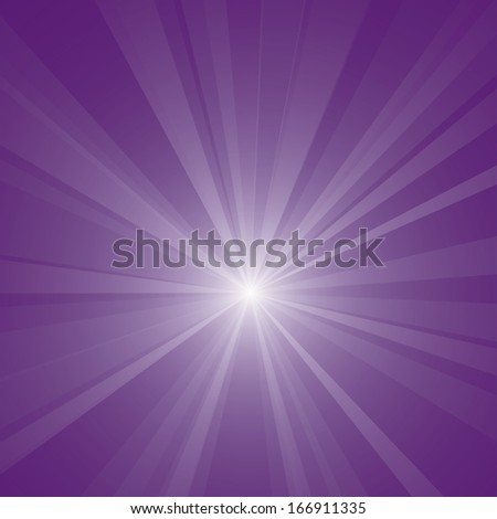 Abstract purple burst vector background. - stock vector