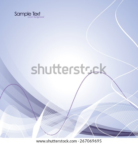 Abstract purple wavy background. - stock vector