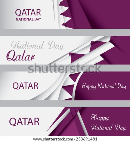 Abstract Qatar Flag, Qatari National Colors, Info graphics Background (Vector Art) - stock vector