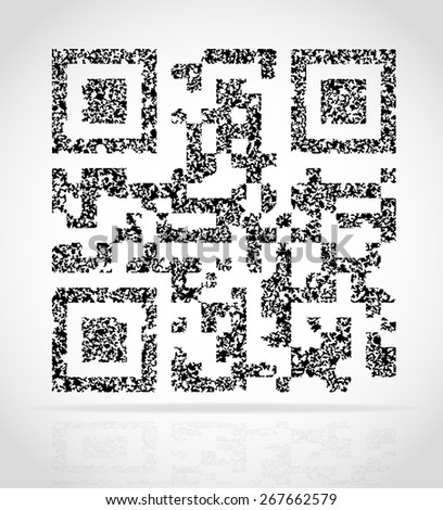 abstract qr code vector illustration isolated on white background - stock vector