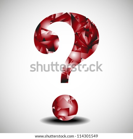 Abstract question mark for background - stock vector