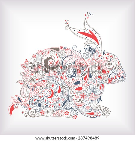 Abstract Rabbit - stock vector