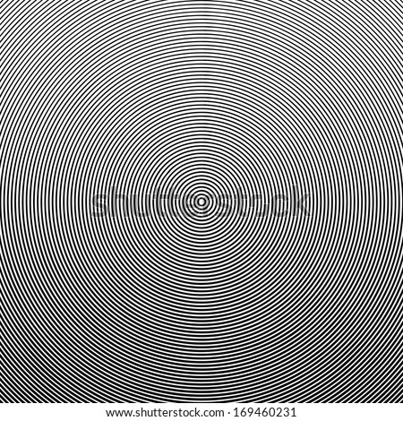 Abstract radial lines moire effect pattern design background - Eps 10 vector illustration  - stock vector