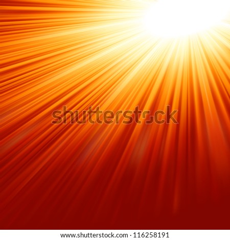 Abstract radiant star. EPS 8 vector file included - stock vector