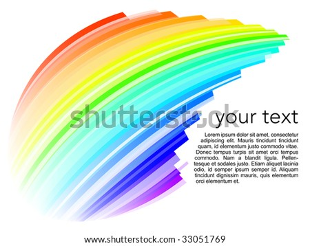 abstract rainbow background - stock vector