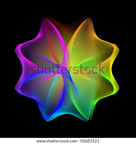Abstract  rainbow background. - stock vector