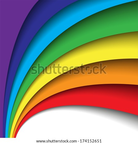 Abstract rainbow background. Big space for your text.