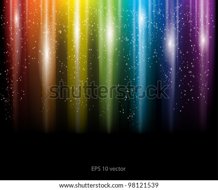 Abstract rainbow background, eps10 vector - stock vector