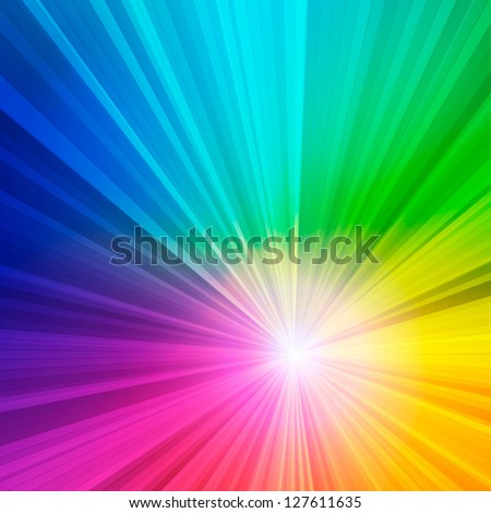 Abstract rainbow background. Vector illustration. - stock vector