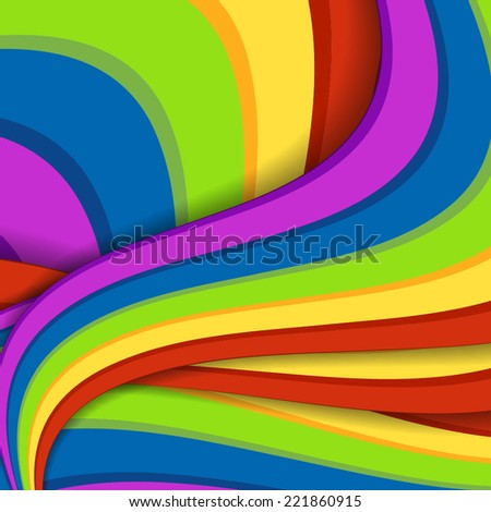 Abstract rainbow background. Vector illustration for your business presentations. - stock vector