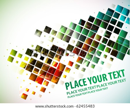abstract rainbow color mosaic, best used of your sample text background. - stock vector