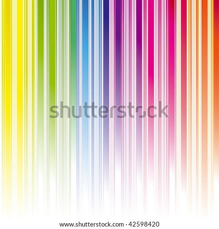 Abstract rainbow color stripe background - stock vector