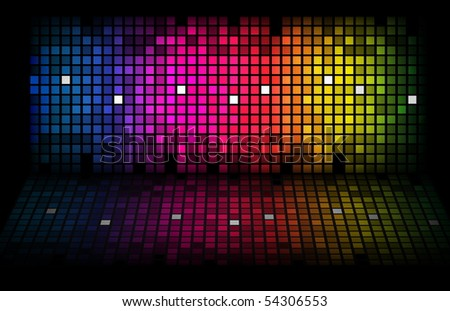 Abstract rainbow - colored vector background. EPS10 - stock vector