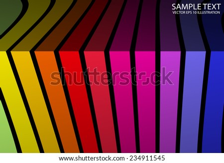 Abstract rainbow colored vector background illustration - Colorful abstract vector background illustration template - stock vector