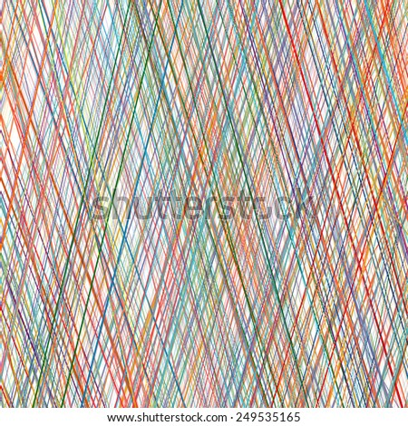 Abstract rainbow curved stripes color diagonal line art vector background - stock vector
