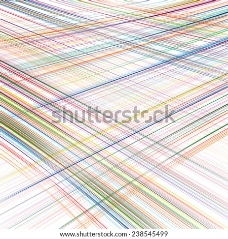 Abstract rainbow curved stripes color line art background - stock vector